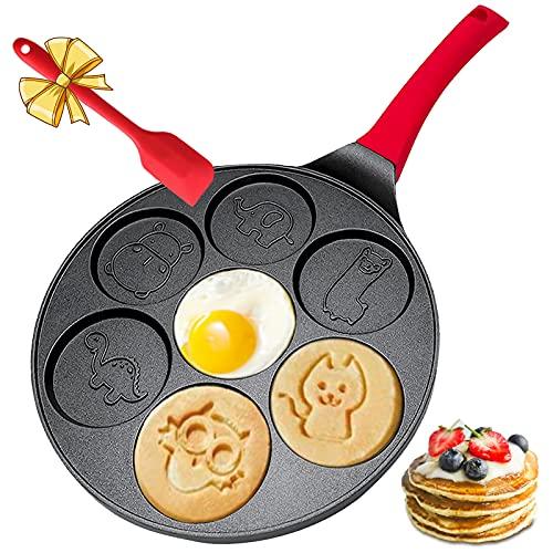 Pancake Molds for Kids - Pancake Pan for Kids - Mini Pancakes Maker Kids Pancake Pan Non-stick Pancake Griddle Grill Pan Mini Crepe Maker