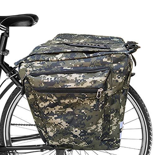 ASANMU Fahrradtasche Doppeltasche, Gepäcktaschen für Fahrrad Gepäckträger Tasche Multifunction wasserdichte Packtaschen Gepäckträgertasche mit Reflektierende Streifen Fahrrad Satteltaschen für MTB