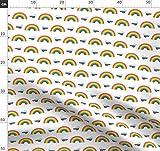 Retro, Regenbogen, 80 S, Wolken, Punkte Stoffe -