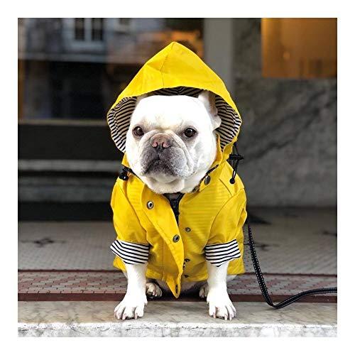 MOLUO Chubasquero para perros grandes, con capucha, abrigo para mascota, ropa de...