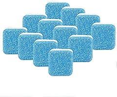 Limpiador efervescente para lavadora, limpiador de lavadora sólido, removedor de limpieza profunda con triple descontaminación para baño, sala de cocina (12 piezas)