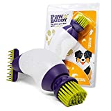 Paw Buddy - Dog Paw Cleaner & Pet Hair Grooming Brush - The Fastest Way To Clean Your Muddy Dog's Paws Using 300ml Of Water - with Comb Attachment for Removing Loose Hair