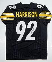 Signed James Harrison Jersey - Black Pro Style Witnessed - JSA Certified - Autographed NFL Jerseys