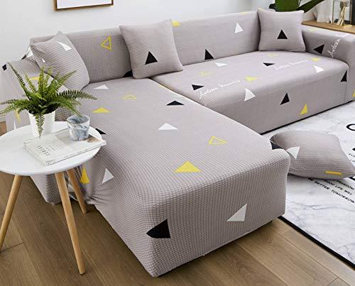 SLOUD Funda de sofá en Forma de L, 2 Fundas elásticas, para sofá seccional en Forma de L, para Mascotas de niños, con 2 Fundas de Almohada-B-En Forma de l 2+2 plazas