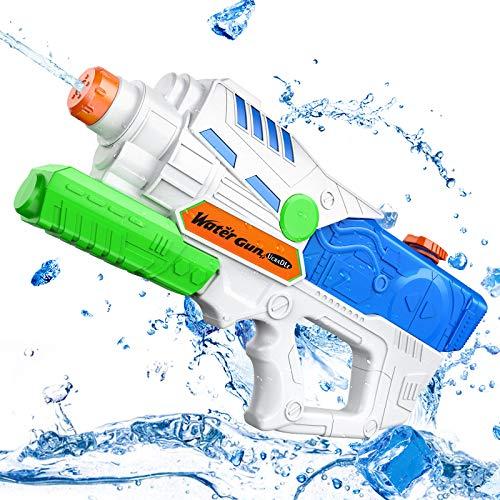 Ucradle Wasserpistole, 950ML Wasserpistolen mit Großer Reichweite mit 26ft für Kinder und Erwachsene, Wasserblaster mit Spritzpower für Garten, Strand, Pool, Sommerpartys Spielzeug