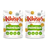 Whisps Parmesan Cheddar Cheese Crisps | Back to School Snack, Keto Snack, Gluten Free, Sugar Free, Low Carb, High Protein | 9.5oz (2 Pack)