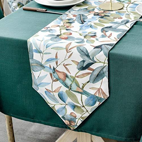 YXN stof rechthoekige tafelloper, dikke antislip decoratieve tafelvlag, geschikt voor eettafel, tv-kast, salontafel (kleur : A, maat: 30X120CM)