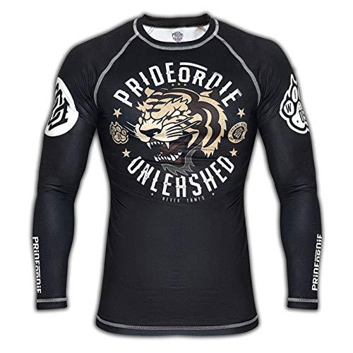 Pride or Die T Kompressionsshirt Unleashed Combat für Herren, Schwarz, XL