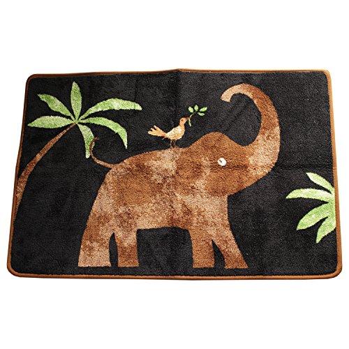 Allure Essential Home SAFARI Jungle Bad Teppich mit rutschfester Latexunterseite