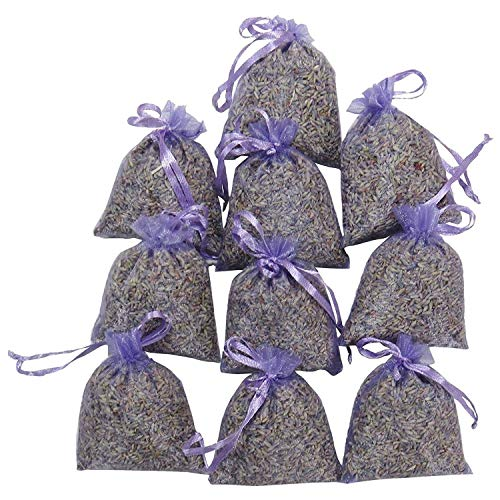 jidan Natural Lavender Bag dried flower Scented Sachets Lavender Packaging 15 Packs | Natural Deodorant, Dried Floral Sachet, Highest Fragrance Lavender Fragrance Sachet (Color : Purple)