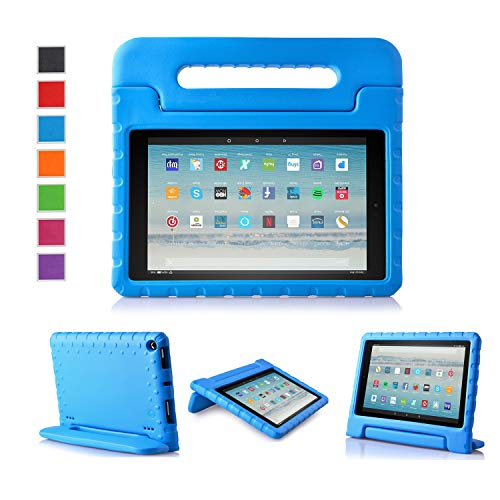 LTROP Fire HD 10 Case 2019 (Previous Model) Shock Proof Fire HD 10 Tablet Case for Kids (7th Generation and 9th Generation, 2017 and 2019) NOT for 2021 Released 11th Generation - Blue
