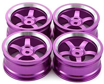 YNSHOU Accesorios de Juguete 4 Llantas de Aluminio de 52 mm para...
