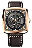 Agelocer Men's Watch Fashion Analog Automatic Watches Top Black Punk Watch Luminous Sport Watch Men and Women (AAP:5603D2)
