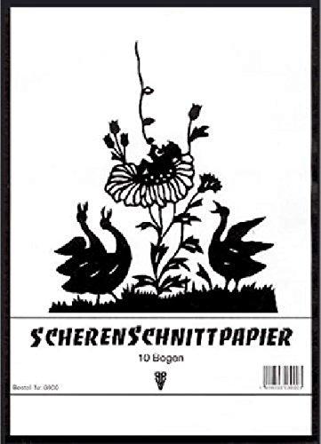 Scherenschnittpapier Heft A3 PENIG 3901 10BL schwarz