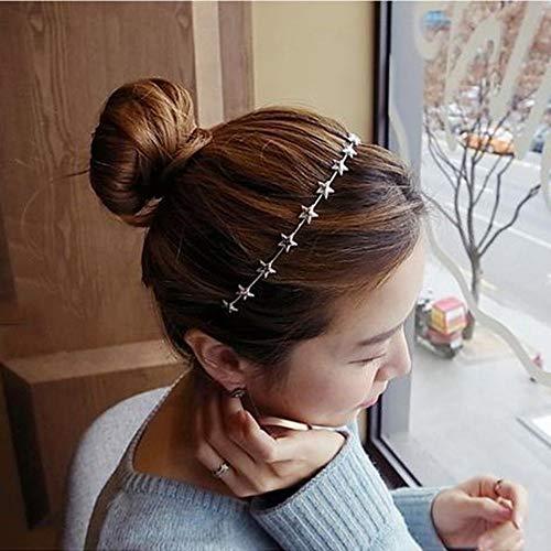 8PCS Crystal Headband Pearls Flower Hairbands Jewelry Rhinestone Fashion Headbands Gold Sliver Metal Headbands Headdress for Girls Women Teens