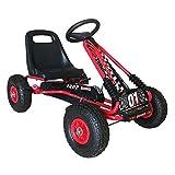 QPLAY - Coche a Pedales Go Kart - Dos velocidades - Ideal para niños a Partir de 3 años - Rojo
