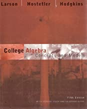 College Algebra Concepts and Models With Student Study Guide and Solutions Guide