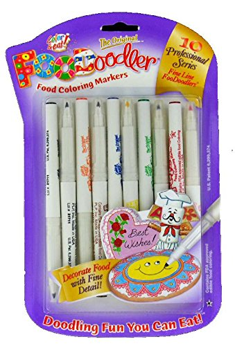 FooDoodler Food Coloring Markers  10 Colors  Kosher 1 A by Private Label