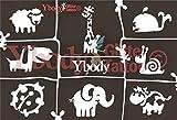 Ybody Glitzertattoos Juego de plantillas de tatuaje con purpurina, diseño de animales