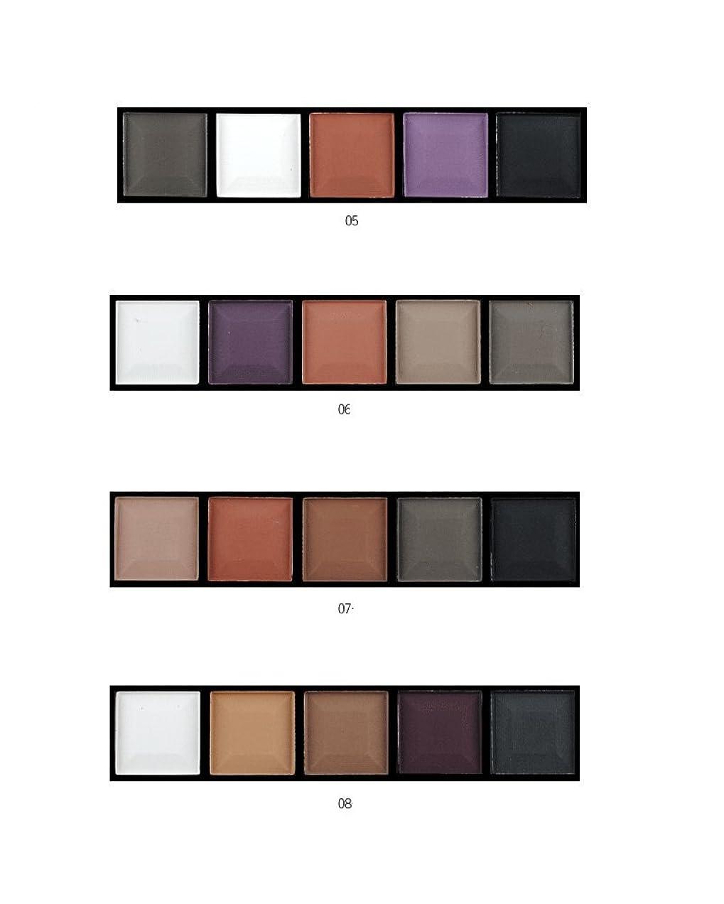 MakeupAcc アイシャドウパレット 5色 ブラシ付き 携帯便利 ヌードメイク マット (07) [並行輸入品]