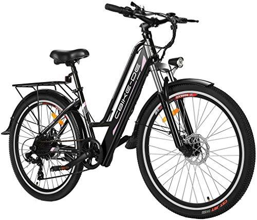 Tooluck E-Bike Elektrofahrrad, 26 Zoll 250W Citybike Elektrisches Fahrrad mit 36V 8Ah Lithium-Akku, Professionell 7-Gang