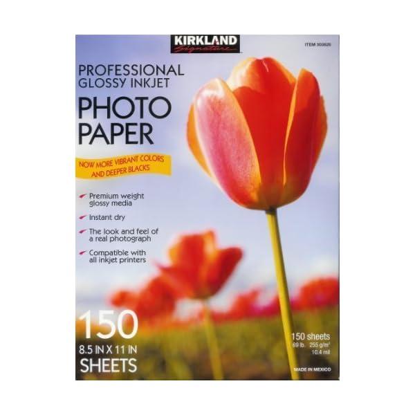 Kirkland Signature Professional Glossy Inkjet Photo Paper 8.5″x11″ 150...