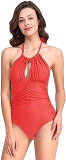 ZPTAT 水着の女性の純白が痩せています。,オレンジ色,S