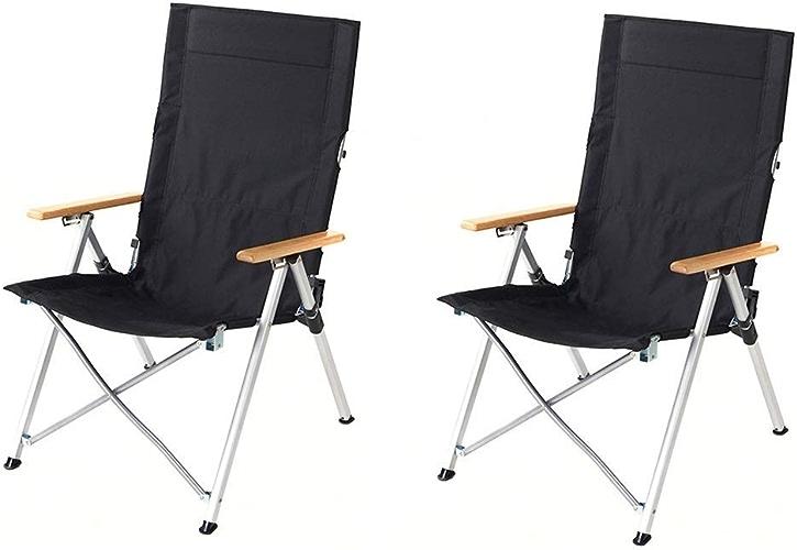 ZDYHQ Dossier de Chaise de Camping Pliant Dossier de Chaise réglable Portable pêche siège de Voyage en Plein air (Taille   2 Pack)