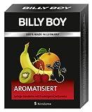 Billy Boy Aroma - 5 fruchtige Kondome mit Geschmack - Erdbeere und Tutti-Frutti - Kleinpackung