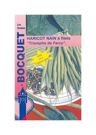 Les Graines Bocquet - Graines De Haricot Nain À Filet Triomphe De Farcy 120G - Graines Potagères À Semer - Sachet De 120Grammes