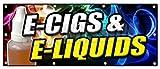 36'x96' E-CIGS & E-Liquids Banner Sign Smoking Head Shop Cigarette Vape vaporize