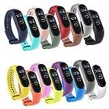 Airuisi 16 Piezas Correa Compatible con Xiaomi Mi Band 4/ Mi Band 3, Pulsera Banda de Deportes Suave Ajustable Silicona Reemplazo Bracelet