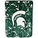 College Covers NCAA Rachel Throw Blanket, 63' x 86', Michigan State Spartans