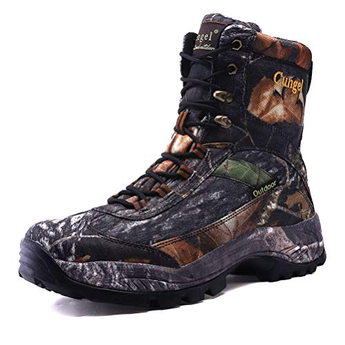 cungel Men's Lightweight Anti-Slip Waterproof Hunting Boots, Outdoor Hunting Shoes