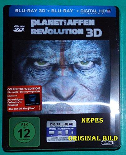 Planet der Affen - Revolution - Limited Lenticular Steelbook Edition (Deutsch) 3D Blu-ray (+2D) (inkl. 36 seitigem Collectors Booklet)