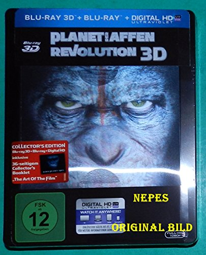 Planet der Affen - Revolution - Limited Lenticular Steelbook Edition (Deutsch) 3D Blu-ray (+2D) (inkl. 36 seitigem Collectors B
