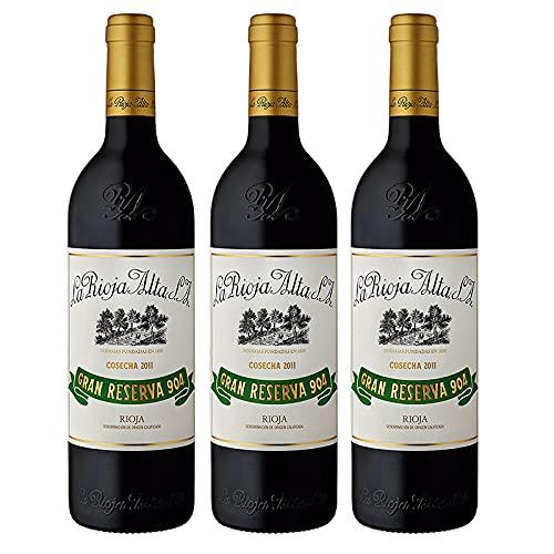 Vino tinto Gran Reserva 904 de 75 cl - D.O. La Rioja - Bodegas La Rioja Alta (Pack de 3 botellas)