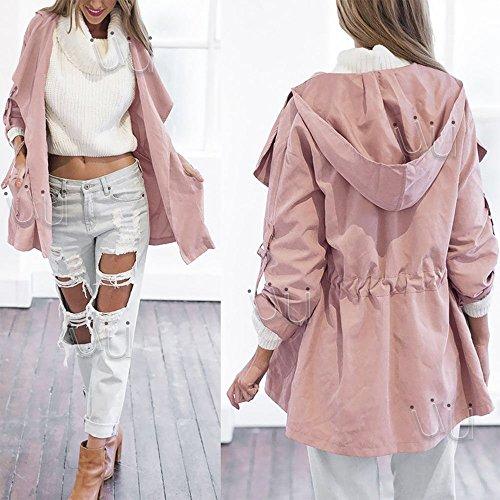 Alpertie Womens Warm Coat Fashion Hooded Long Jacket Trench Windbreaker Parka