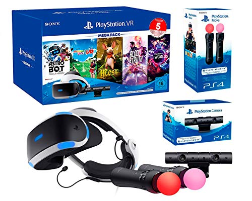 PlayStation VR2 MegaPack 3 (5 spiele) Moss + Astrobot + Everybody's Golf + Blood & Truth + VR Worlds + Twin Move Controllers + PS5 Kamera Adapter