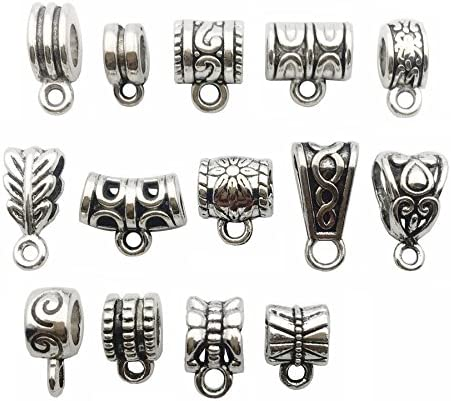 Ranking TOP16 100g About 125pcs Mixed Antique Tibetan Bail Silver Beads OFFicial mail order Tube