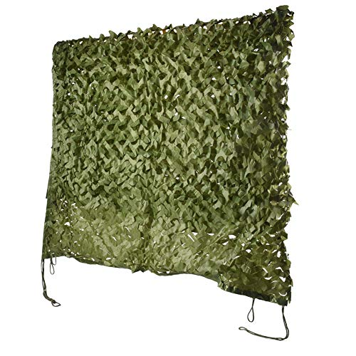 HYOUT Camouflage Netting, 6.5x10ft Camo Net Blinds Great for Sunshade Camping Shooting Hunting etc,Green