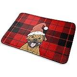 Joe-shop American Staffordshire Terrier Christmas Dog Gift Área de Lanzamiento Alfombra de Suelo Acento Piso Fiesta Exterior Conjunto Baño Alfombra de Cocina