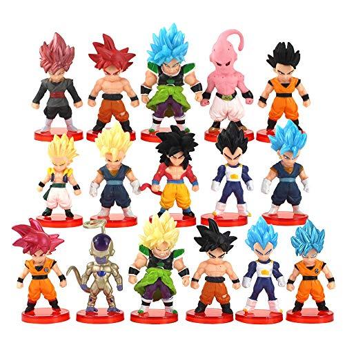 weichuang Anime Kids Gift 16pcs/lot Red Base Figures Anime PVC Figura de acción coleccionable modelo de juguete de dibujos animados regalo para niños (color: 16 piezas)