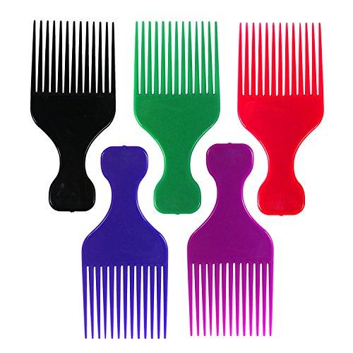 Couleur Plastique Afro Cheveux Peignes – Lot de 12