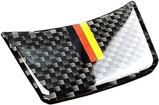 TOOGOO Carbon Fiber Steering Wheel Decoration Sline S Line Cover for Audi A4 B8 A3 A6 C7(German Flag Color)