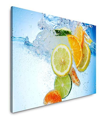 Paul Sinus Art 'Frutti in Acqua Ispirante Arte Fotografica di qualità Museum per la Tua casa Come Quadro su Tela - Made in Germany, 100 x 70 cm