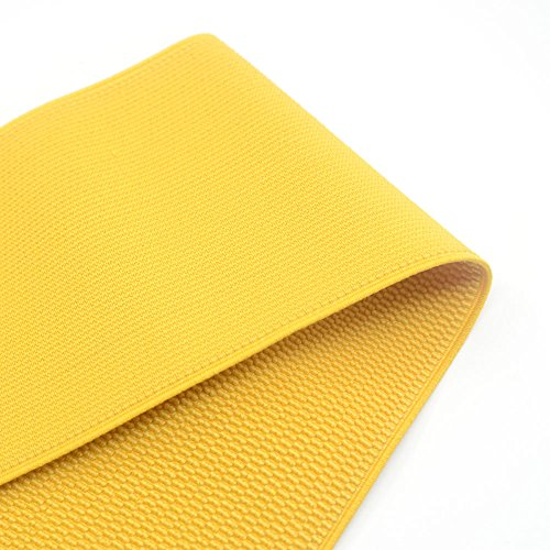 iCraft 4-inch Wide Colored Patterned Waistband Elastic Bands By 2-yard, Yellow 73050
