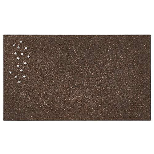 My- Stylo Collection Memoboard mit Pins, Kork Dunkelbraun, Produktgröße: 60 cm lang, 35 cm breit