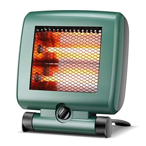 AHELT-J Calentador Radiante - Calentador Radiante Infrarrojo Calentador Infrarrojo de Cuarzo con 2 Configuraciones de Calor, Calentador de Espacio Radiante Silencioso y Ligero sin Ventilador,Verde