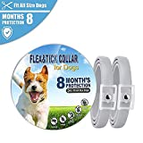 Enjoyfeel 2 Pcs Dogs Flea Tick Collar, Adjustable Safe Waterproof Anti Flea Collar